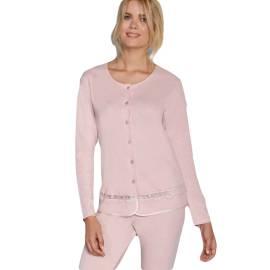 Andra pigiama donna Art. 7724 color rosa con dettagli in pizzo
