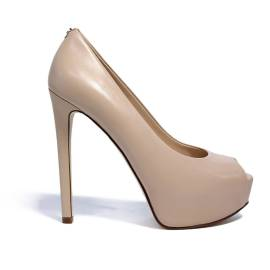 Guess blunt decoltè with high heels cream color article FLEFFF1 LEA07 effia model