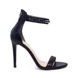 Guess higher elegant sandal black color article FLPRI1 LEA03 BLACK