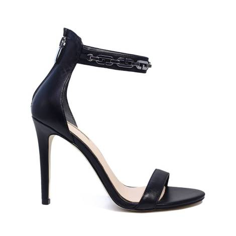 Top Sandali Scarpe da Donna Tacco Alto Pumps Lacci 3043 GRIGIO CHIARO 40