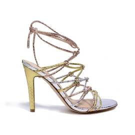 Guess sandalo con tacco alto multicolore articolo FLAEY1 PEL03 modello aeyla