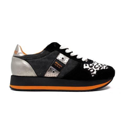 Blauer 6FWOFASRUN/ANI/B sneakers donna tacco basso colore nero
