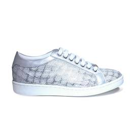 Keys women sneaker's with paillettes silver color article 5052