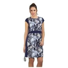 Massana abito donna E657268 color blu con stampa floreale