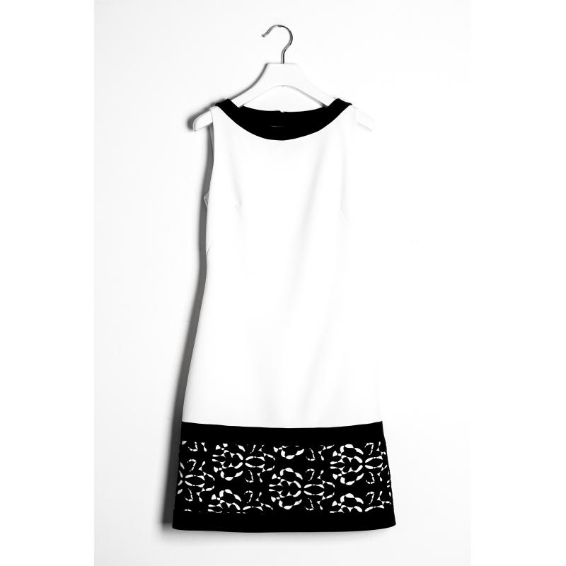 a47d6ab9d396 Sandro Ferrone abito donna C4 52038 PE17 bicolore bianco e nero