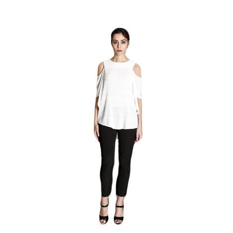 Sandro Ferrone camicia donna C18 PALLADIO PE17 color bianco, con spalle scoperte