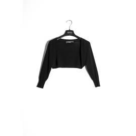 Sandro Ferrone maglia donna M25 TRAPANO PE17 maniche 3/4 color nero
