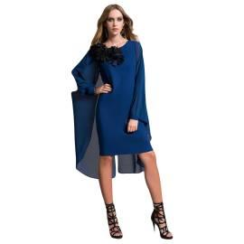 EDAS Luxury abito corto SCRICCO color blu, con mantella