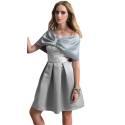 EDAS Luxury cappa DASSA duchesse tinta unita color grigio