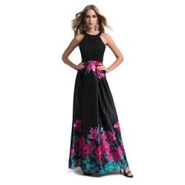 EDAS Luxury abito lungo FELIX con stampa fiore acquarellato
