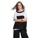 EDAS Luxury casacca donna GALACTIC bicolore nero e bianco