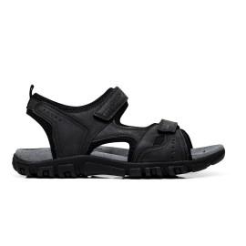 GEOX sandalo uomo U4224A 000BC C9999 color nero, sintetico