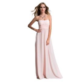 EDAS LUXURY GRONGO abito lungo donna color rosa stile georgette