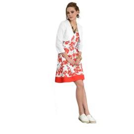 EDAS ROMOLO bolero jacket in white cotton color