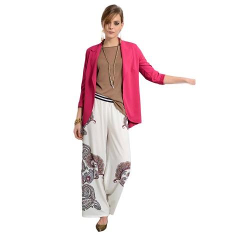 EDAS CAMAIORE pantalone elastico cashmere color bianco