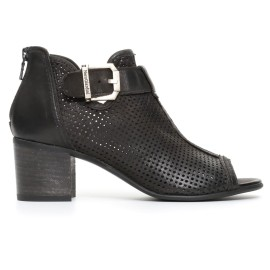 Nero Giardini woman ankle boot popped with heels black color article P717020D 100