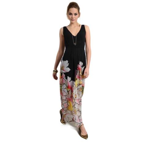 EDAS GAMBINO FUXIA vestito lungo donna multicolore
