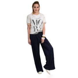 EDAS PONSIO pantalone donna plisse lucido color blu