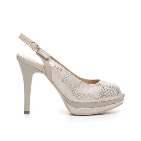 Nero Giardini sandalo donna color beige P717411DE 445 GOODLY SABLE NAPPA PANDORA ASPARA PLATO' 1