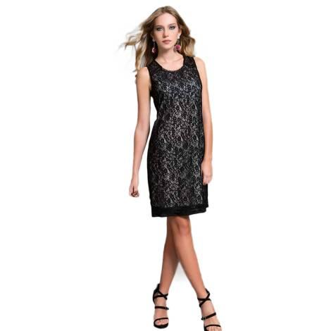 EDAS Luxury JEZIEL abito jersey donna color nero con pizzo