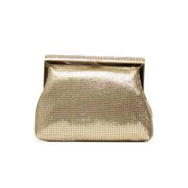 Lancetti 5246 pochette donna stile porta monete color oro con strass