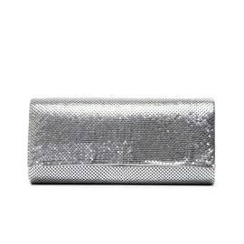 Lancetti 5247 pochette donna in metallo color argento