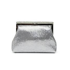 Lancetti 5246 pochette donna color argento design porta monete