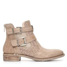 Nero Giardini women ankle boot with buckles and low heel champagne color article P717163D 439 ROYAL CHAMPAGNE