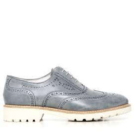 Nero Giardini scarpa da donna in pelle stringata colore azzurro P717191D 205 DREAM NAVY
