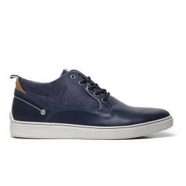 Wrangler WM171060 16 sneaker uomo color navy in ecopelle e tessuto