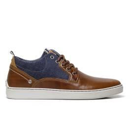 Wrangler WM171060 sneakers uomo color cognac in ecopelle e tessuto