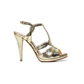 Albano 1237 sandalo elegante donna cobra platino