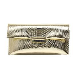 Albano 709 COBRA pochette donna color oro / platino con texture squamata