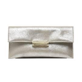 Albano 709 LUX pochette donna color beige con effetto laminato