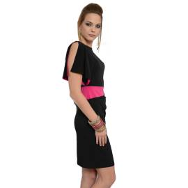 EDAS JINARZO jersey woman dress black and fuxia