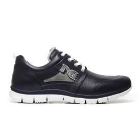 NERO GIARDINI P704920U 204 sneakers uomo in pelle color blu