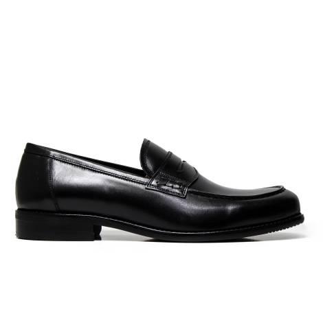 NERO GIARDINI P704862U 100 black leather loafer