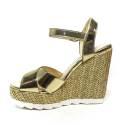 Byblos sandalo con zeppa alta donna colore platino articolo 672125 039