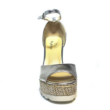 Byblos sandalo con zeppa alta donna color argento articolo 672126 036 c076ecefc62