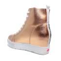 Fornarina sneakers donna con zeppa alta color oro PE17MJ9543I091 METI-GOLD