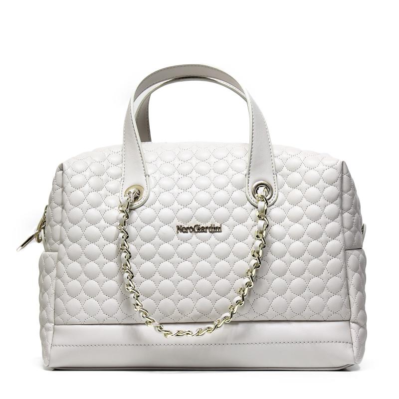 Nero giardini p743403d 705 borsa donna color bianco sporco con texture rilievo - Borse nero giardini prezzi ...