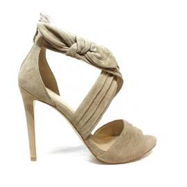 Guess sandalo in camoscio con tacco alto color sabbia articolo FLAZL2 SUE03 SAND
