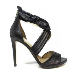 Guess sandalo in pelle con tacco alto colore nero articolo FLAZL2 LEA03 BLACK