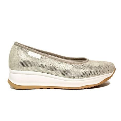 Agile by Rucoline ballerina con zeppa color platino articolo 0136-83049 136 A Sambuco Rind