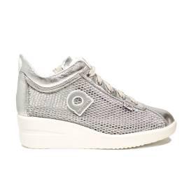 Agile by Rucoline sneaker con zeppa color argento articolo 0226-82983 226 A NETLAM