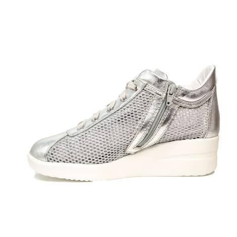 Agile by Rucoline sneaker con zeppa color argento articolo 0226-82983 226 A  NETLAM 5af4b9b62e0
