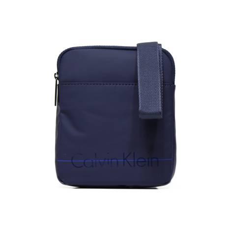 Calvin Klein K50K502054 446 borsa tracolla uomo mini flat crossover in tessuto color blu