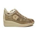 Agile by Rucoline sneaker con zeppa color oro articolo 0226-82983 226 A NETLAM
