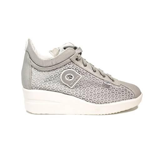 Agile by Rucoline sneaker con zeppa color argento articolo 0226-82984 A DALIDA 1215