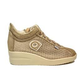 Agile by Rucoline sneaker con zeppa color oro articolo 0226-82984 A DALIDA 1215